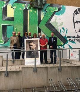 Dr. Roger Stöcker, Oberbürgermeister Sven Wagner, SPD-Kreisovorsitzender Dr. Roger Stöcker, Prof. Angela Kolb-Janssen