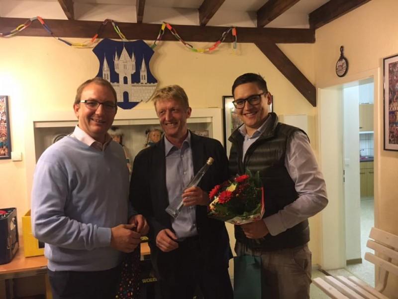 Landrat Markus Bauer, Torsten Reinharz und Dr. Roger Stöcker